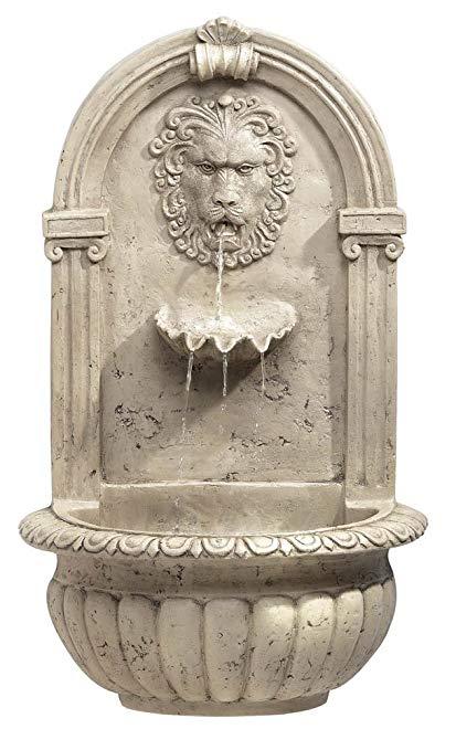 Koehler 32428 30 Inch Indoor/Outdoor Lion Head Wall Fountain