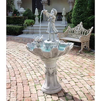 Water Fountain - 4 Foot Tall L'Acqua di Vita Garden Decor Fountain - Outdoor Water Feature