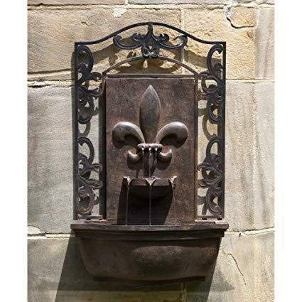 French Quarter Wall Fountain in English Iron