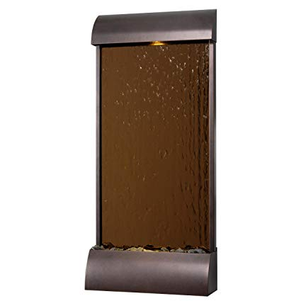 Kenroy Home 50049BRZ Aspen Floor/Wall Fountain, Bronze Finish with Copper Mirrored Face