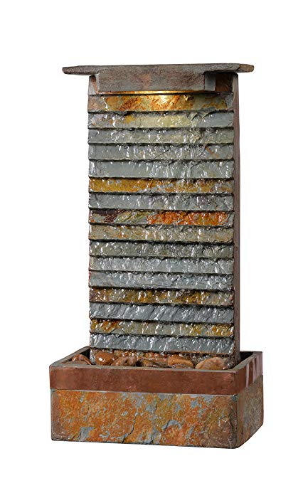 Kenroy Home 51023SLCOP Stave Indoor Table/Wall Fountain