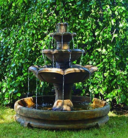 HENRI STUDIO Montreux Three-Tier Fountain in Rondo Pool