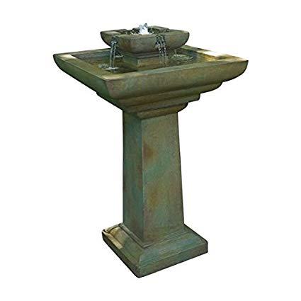 Henri Studio 3 Piece Falling Water Fountain, Trevia Greystone