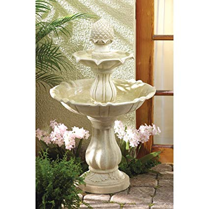 3 Tier Acorn Water Fountain - Fiberglass