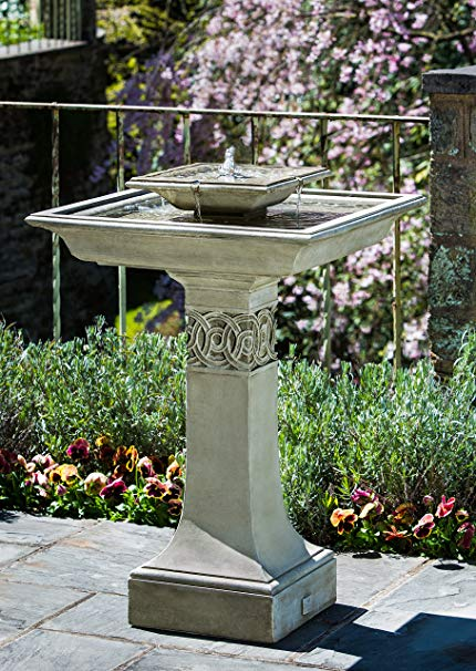 Campania International FT-214-TR Portwenn Fountain, Travertine Finish
